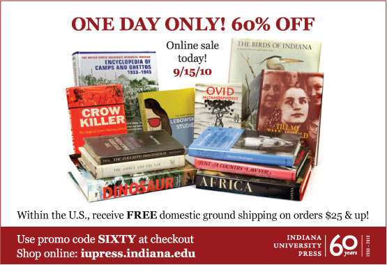 60% off sale - today only 9/15/10