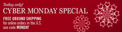 Cyber Monday Special - Free Shipping - Use code MONDAY