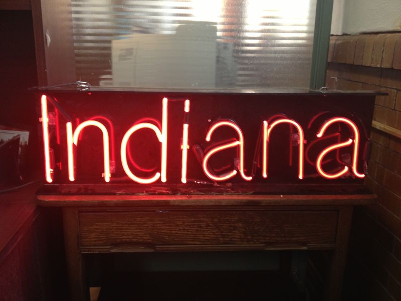 Indiana neon sign